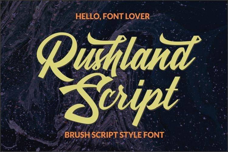 Rushland Scripts fonts