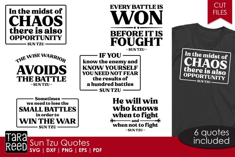 Sun Tzu quotes from The Art of War - SVG & Cut Files