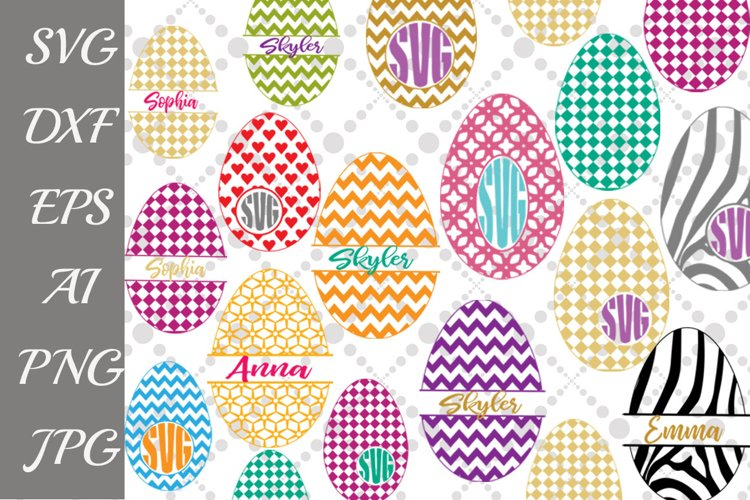 Easter Eggs Bundle Svg example image 1
