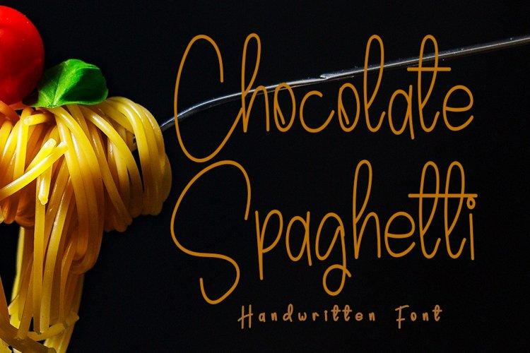 Chocolate Spaghetti   A Handwritten Font example image 1