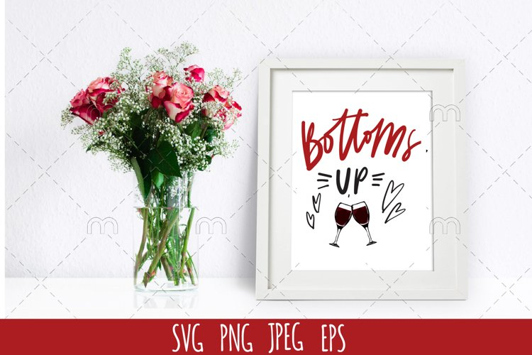 Wine SVG | Bottoms up example image 1