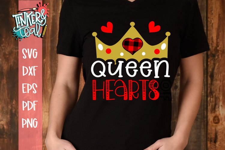 Queen of Hearts Valentine SVG example image 1