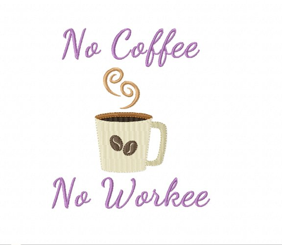 No COFFEE No WORKEE in 2 sizes - Instant Download example image 1