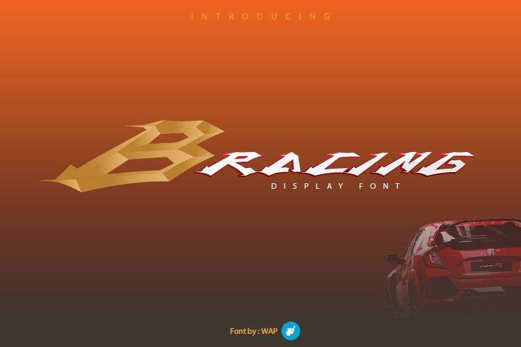 B RACING | sport font