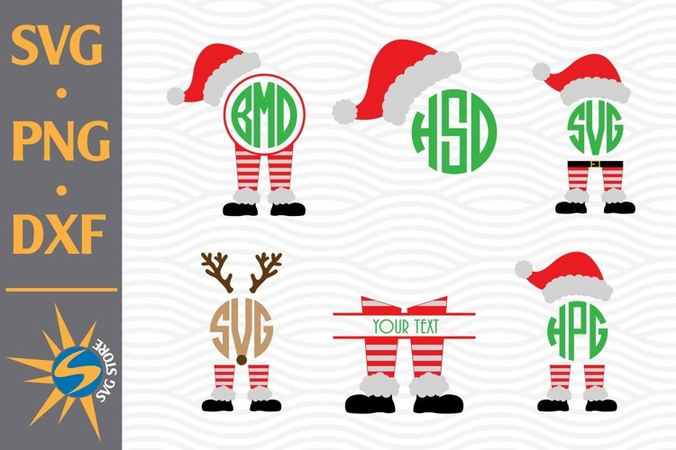 Santa Monogram SVG, PNG, DXF Digital Files Include example image 1
