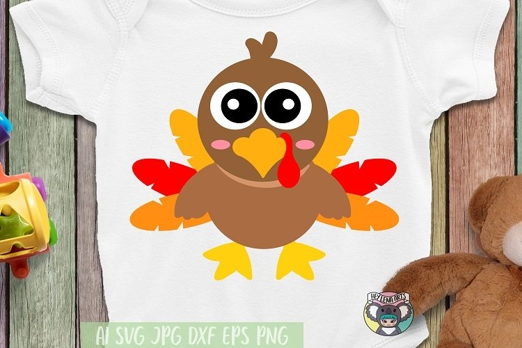 Thanksgiving day svg, Little Turkey svg, Cricut Cut File example image 1