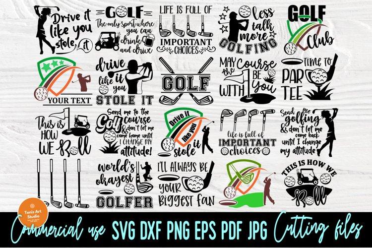 Golf SVG Bundle, Golfing Svg, Golfer Svg Quotes Cut Files example image 1