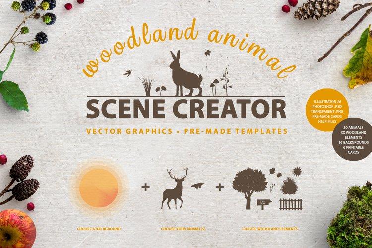 Woodland Animal Scene Creator example image 1