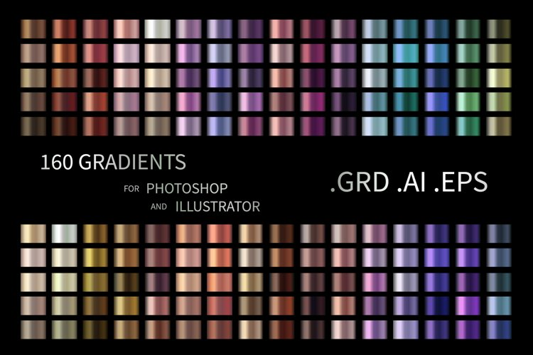 160 Gradients for Photoshop and AI