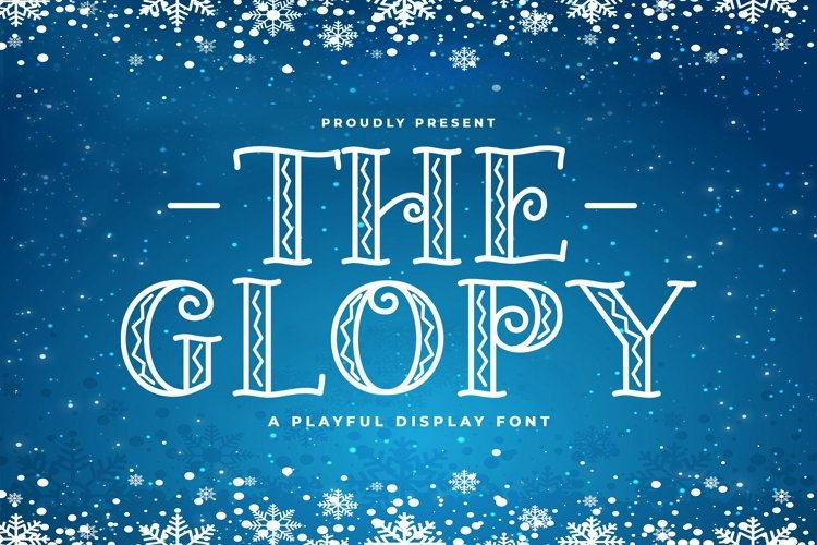 Web Font The Glopy example image 1