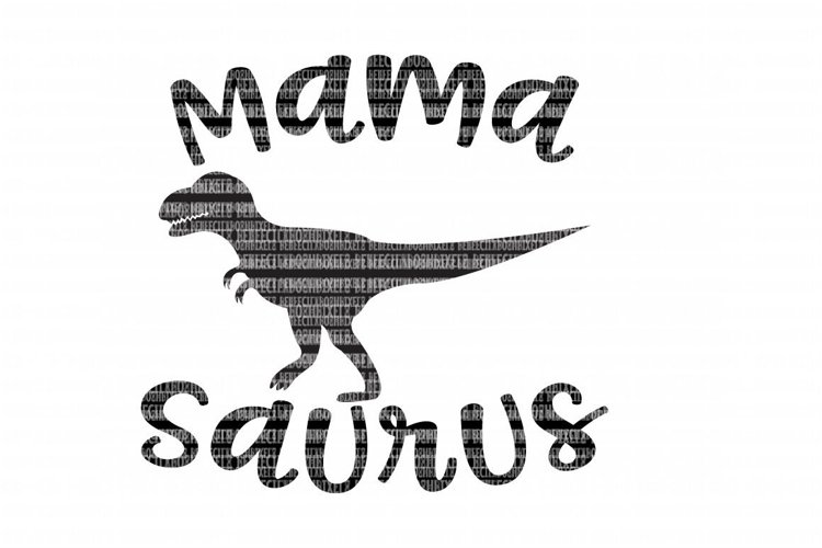 Mama Saurus SVG Files for Silhouette and Cricut Design Space Christmas Cut File Printable Transfer Decal DXF Commercial Use example image 1