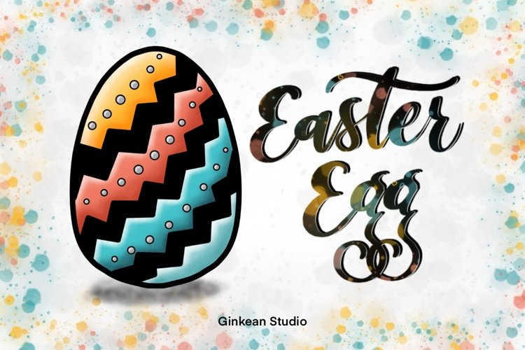 Easter egg png, easter clipart, Cute easter egg clipart, png example image 1