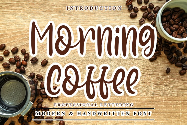 Morning Coffee - Modern & Handwritten Font example image 1