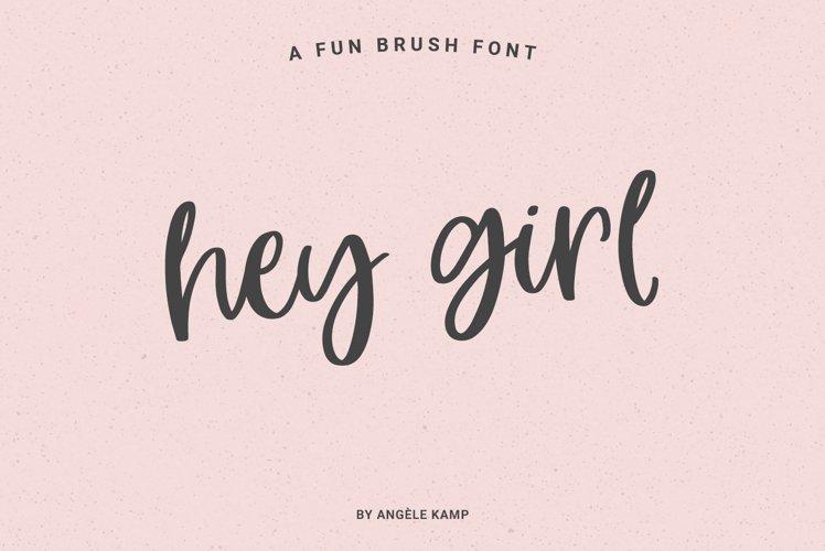 Hey Girl modern brush calligraphy font example image 1
