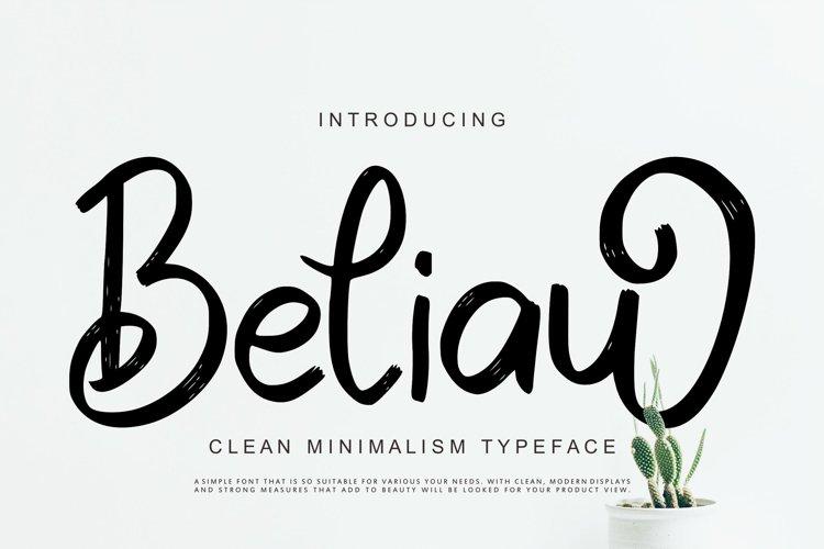 Beliau | Clean Minimalism Typeface example image 1