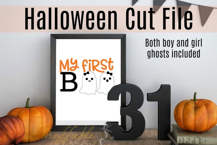 My First Boo Halloween Cut File example image 1