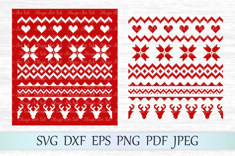 Sweater pattern svg, Christmas pattern svg, Ugly sweater svg example image 1