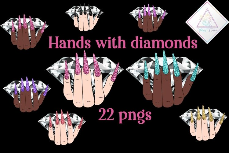 Hand With Diamond Clipart example image 1
