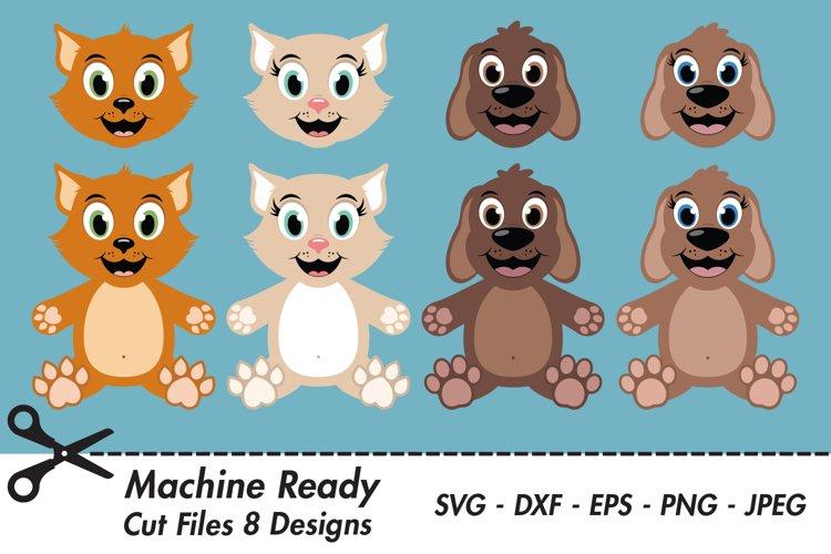 Cat and Dog Bundle SVG Cut Files, pet clipart example image 1