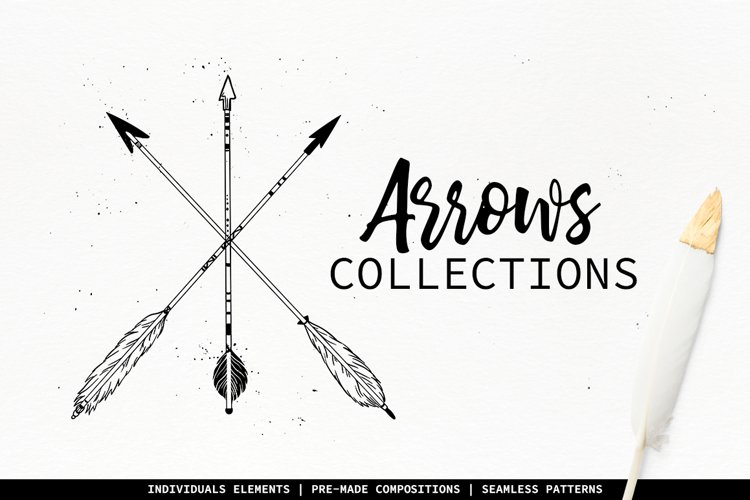 Arrows collection. Hand drawn illustrations. example image 1