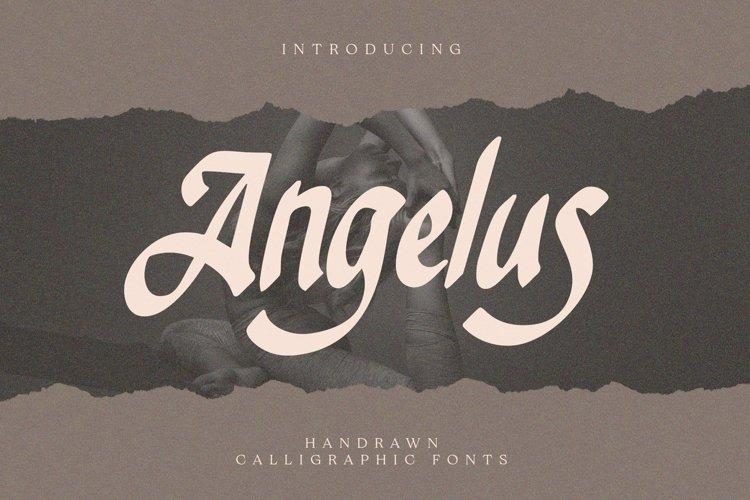 Web Font Angelus - Handrawn Calligraphic Font example image 1