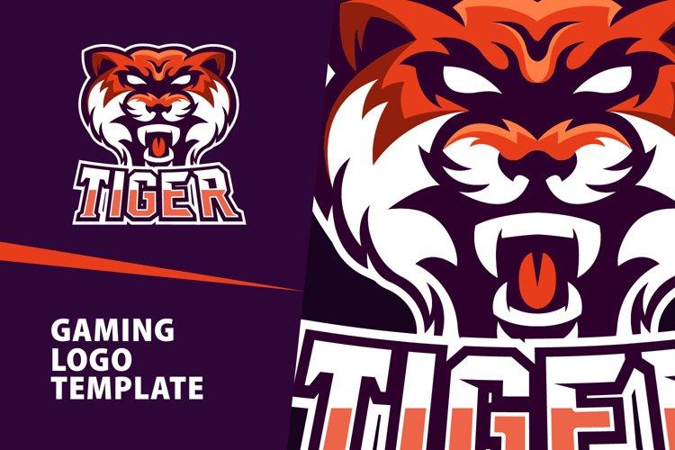 Tiger Gaming Logo Template example image 1