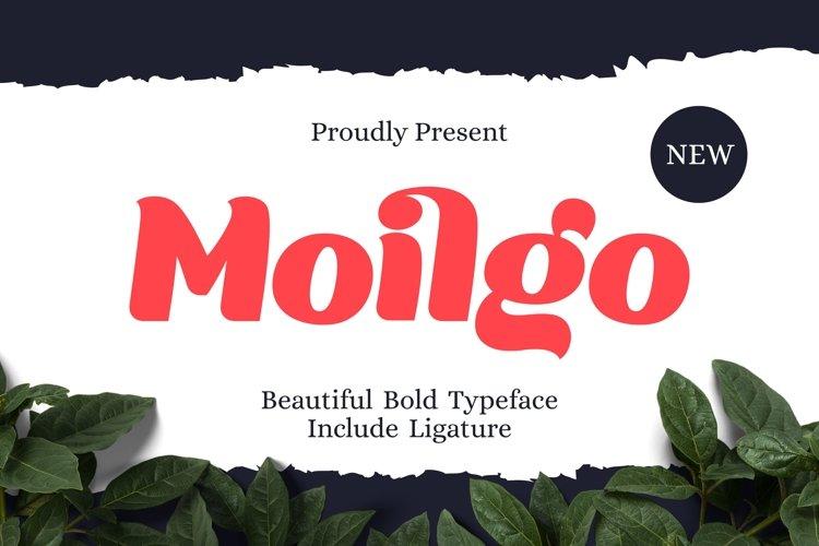 Moilgo - Beautiful Bold Font example image 1