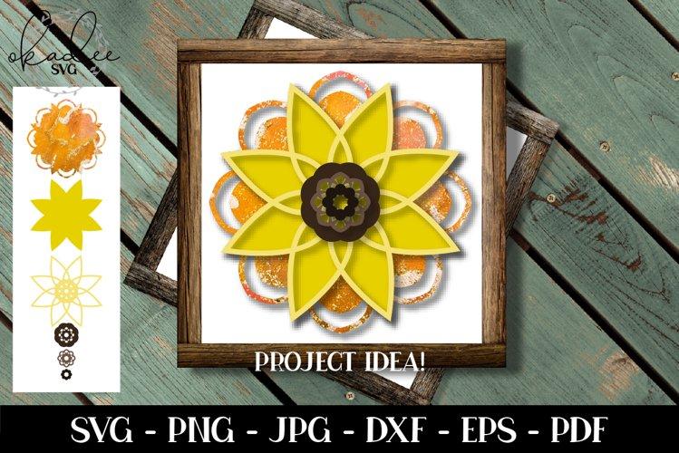 Download 3d Sunflower Mandala Svg Layered Svg Mandala Svg Cut File 560182 Cut Files Design Bundles