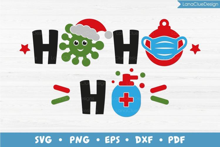 HoHoHo Quarantine Christmas SVG PNG DXF EPS PDF example image 1