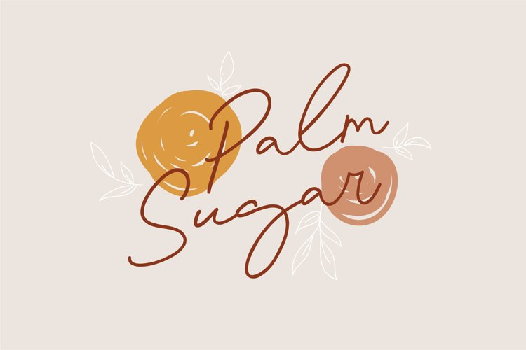 Palm Sugar Font EXTRA Doodles example image 1