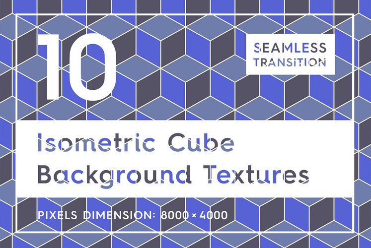 10 Isometric 3D Cubes Backgrounds example image 1