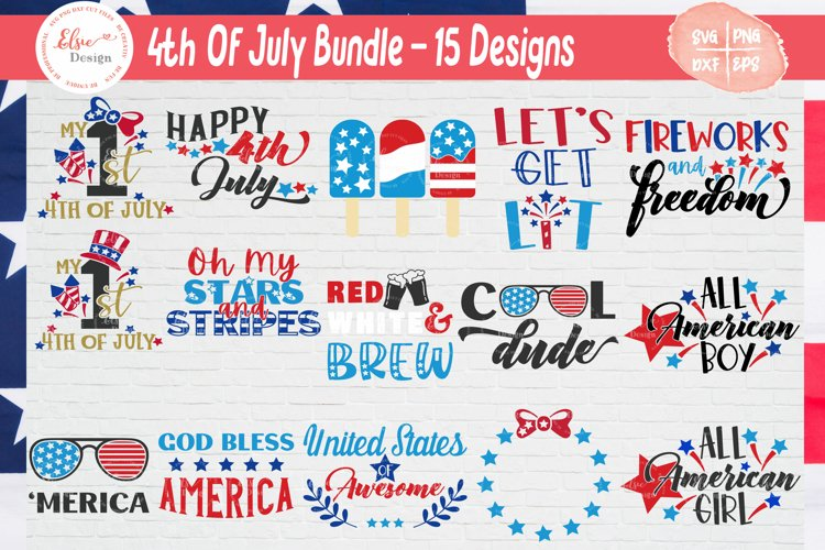 4th of July - Independence Day SVG Cut Files Bundle