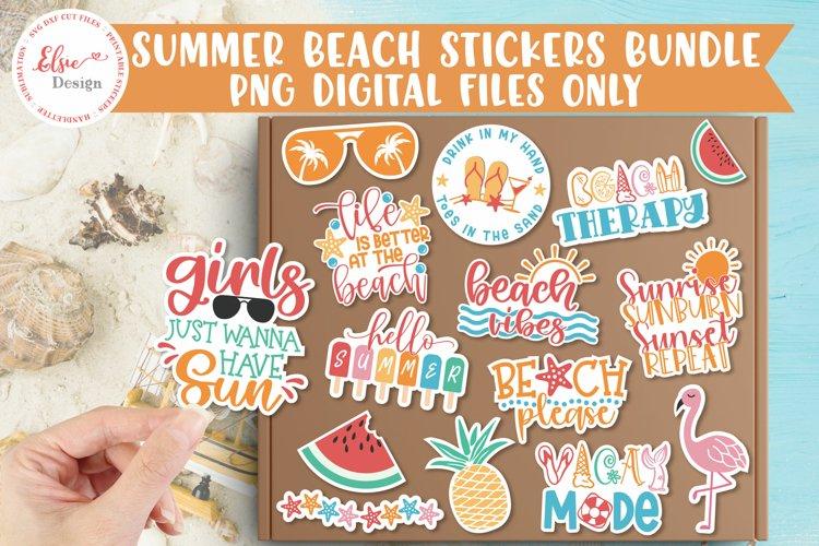 Summer Beach Stickers Bundle