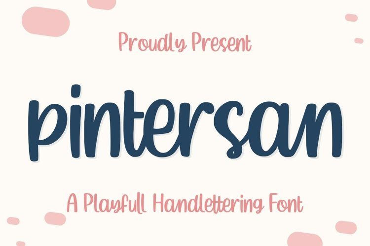 Pintersan - Handlettering Font example image 1