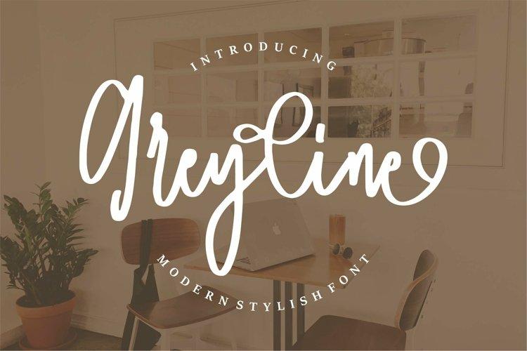 Web Font Greyline - Modern Stylish Font example image 1