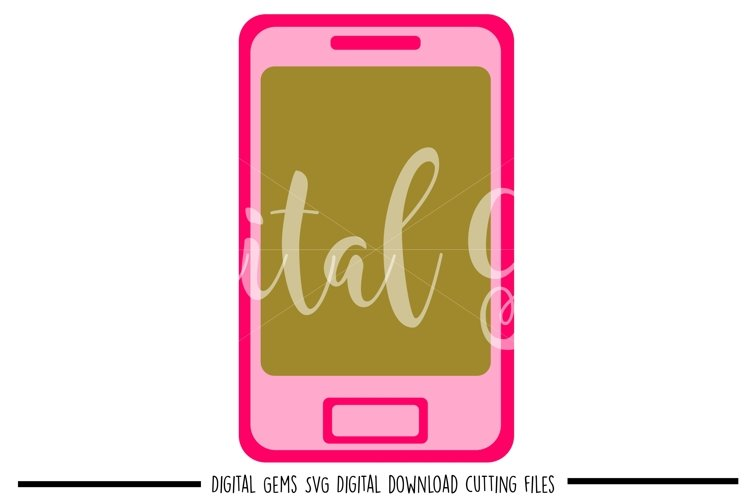 Phone SVG / PNG / EPS / DXF files example image 1