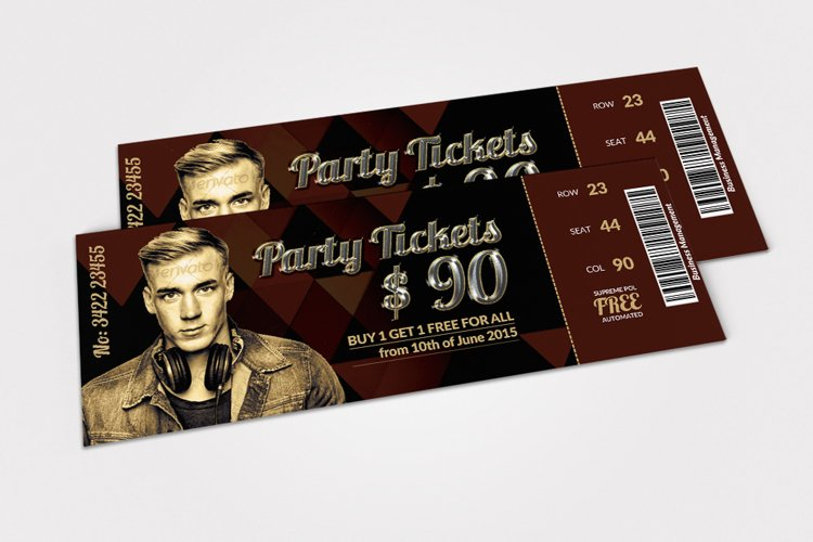 Musical Band Concert Tickets example image 1