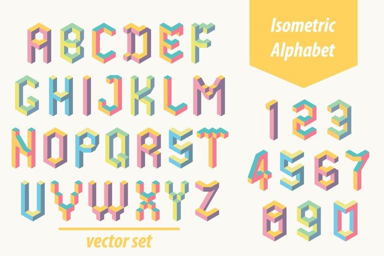 Isometric geometric letters example image 1