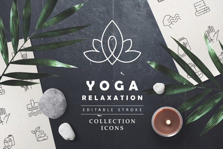 Icon collection for yoga & relax example image 1