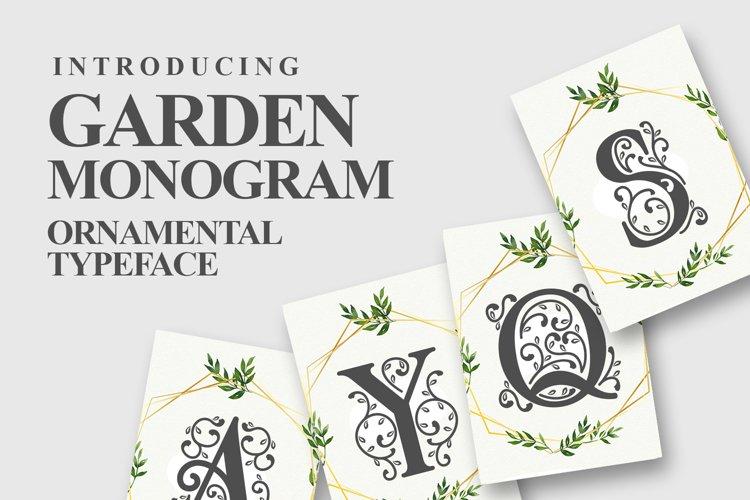 Garden Monogram Font example image 1