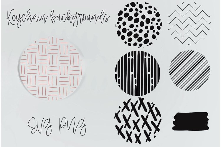 Keychain patterns SVG, Keychain mini bundle, circle patterns - Free Design of The Week