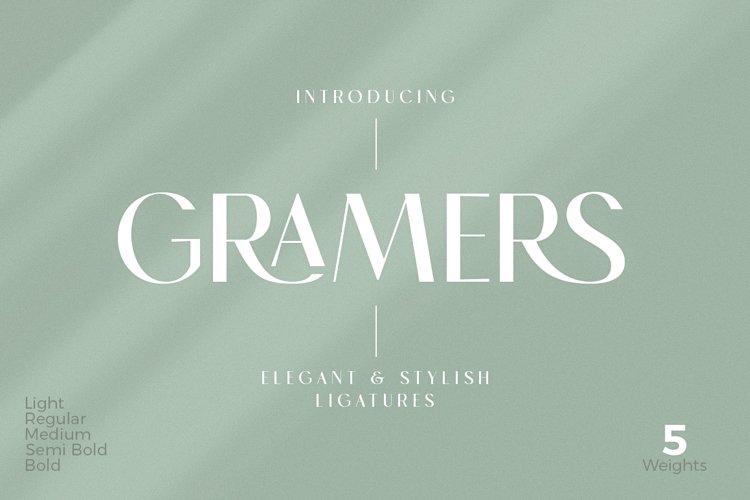 Gramers | Elegant & Stylish Ligatures example image 1