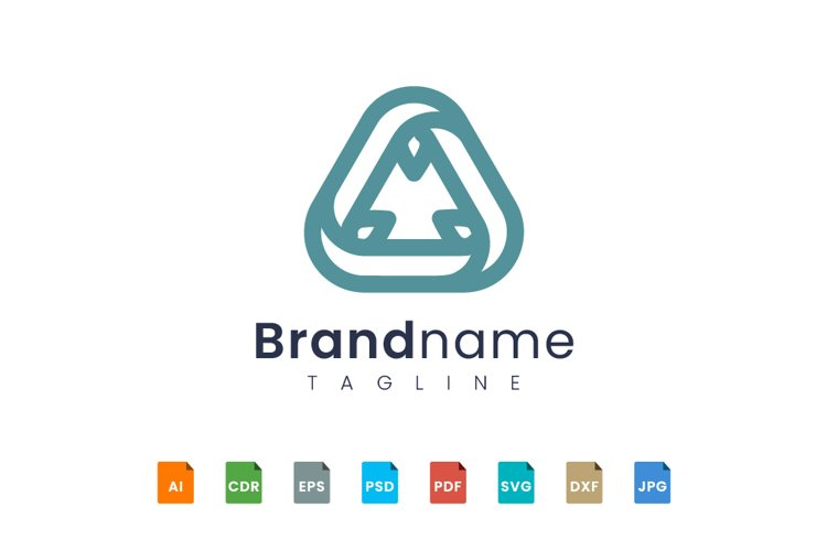 Logo triangle with rounded corners example image 1