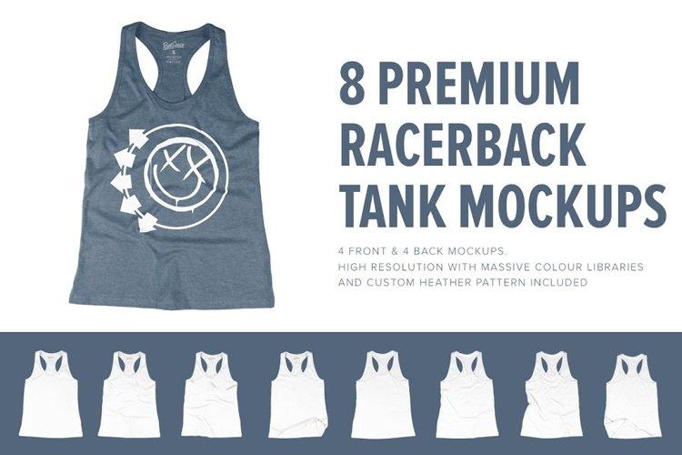 8 Premium Racerback Tank Mockups example image 1
