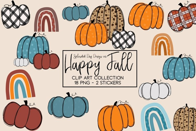 Happy Fall Clipart collection example image 1