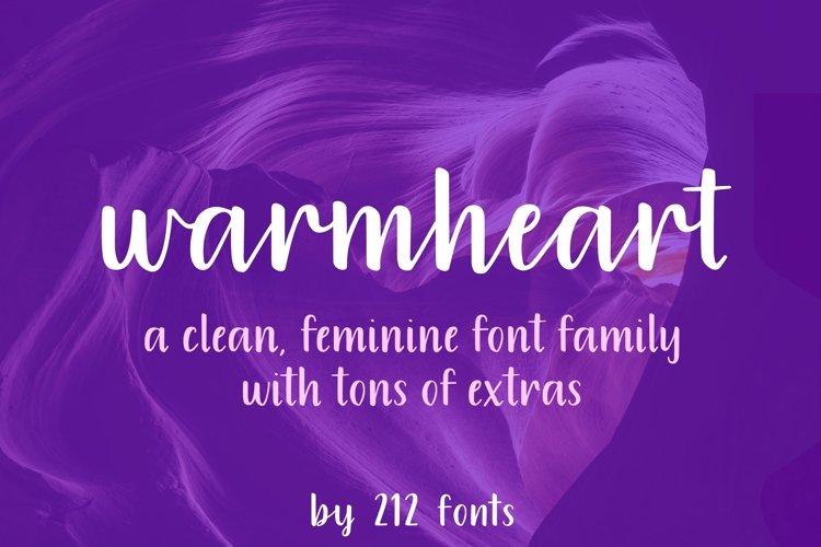 Warmheart Font Family Script, Serif, Alternates & Swash example image 1