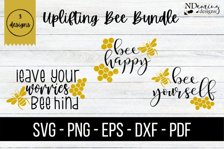 Uplifting Bee Bundle Digital SVG Cut Files