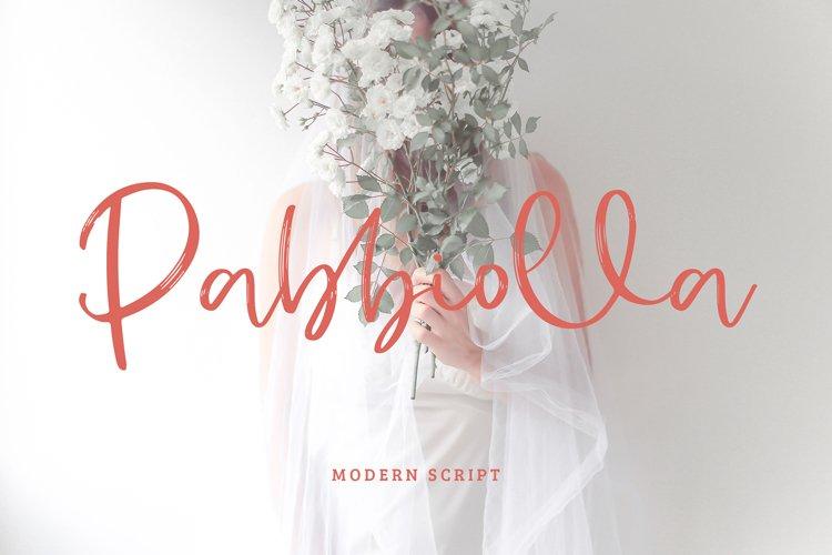 Pabbiolla Modern Script Font example image 1