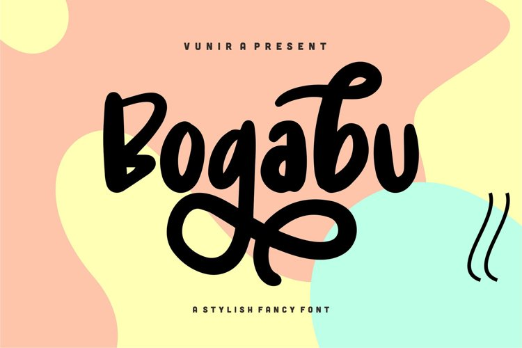 Bogabu   A Stylish Fancy Font example image 1