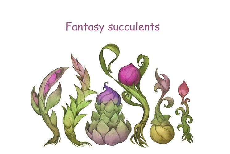 Fantasy succulents example image 1